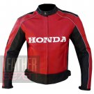Honda 5523 Red Outstanding Cowhide Leather Motorcycle Racing Jacket