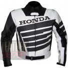 New Arrival Pure Cowhide Leather Safety Racing Jacket ... Honda 9019 Gun Metal