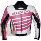 Honda 9019 Pink Pure Cowhide Leather Safety Jacket For Ladies By ButtCo Group