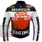 New Arrival Pure Cowhide Leather Safety Racing Jacket ... Honda CBR Orange