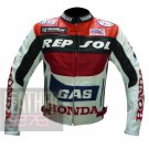 Honda GAS Repsol Original 100% Pure Cowhide Leather Safety Racing Jacket