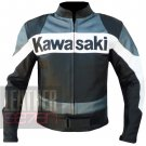 Kawasaki 2020 Grey Pure Cowhide Leather Safety Racing Jacket For Bike Racers