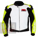 New Classic Men's Fashion Cowhide Leather Safety Coat .. Suzuki 1078 Fluorescent