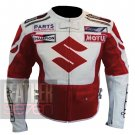Best Option For Professional Racers .. Pure Cowhide Leather Jacket Suzuki 4269 Red