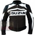 Suzuki GSX Brown Pure Cowhide Leather Safety Racing Jacket For Bikers