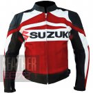 Suzuki GSX Red Pure Cowhide Leather Safety Racing Jackets By ButtCo Group