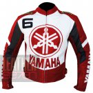 Yamaha 6 Red Genuine Cowhide Leather Safety Jacket For Bikers By ButtCo Group