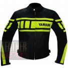 New Men's Fashion Genuine Cowhide Leather Yamaha 0120 Fluorescent Jacket