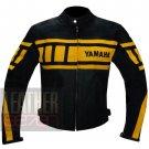 Pure Cowhide Racing Biker Jacket Yamaha 0120 Yellow Coat By ButtCo Group