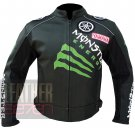 Best Quality Pure Cowhide Leather Racing Jacket Yamaha 0121 Black For Bikers