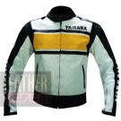 Yamaha 5241 Yellow Cowhide Leather Jackets Specially Made For Bike Racers