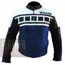 Yamaha 6728 Dark Blue Pure Cowhide Leather Jackets For Bike Racers