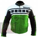 Yamaha 6728 Green Pure Cowhide Racing Jackets For Professional Bike Racers