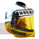 Classic Men's Fashion Designer Jackets .. Pure Cowhide Leather Yamaha 6728 Yellow