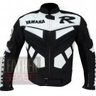 Best New Men's Fashion Pure Cowhide Leather Coats .. Yamaha R Black