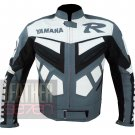 Best Quality Jackets For Biker Get Pure Cowhide Leather Coat .. Yamaha R Grey