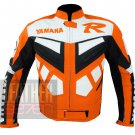 Best Affordable Pure Cowhide Leather Racing Coats By Bikers .. Yamaha R6 Orange