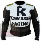 Best Biker Jackets .. New Arrival Of Cowhide Leather Coats . Kawasaki 1 Brown