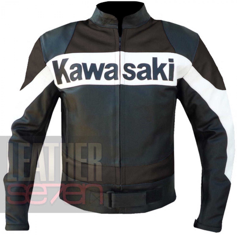 Leather Biker Jackets Men .. Kawasaki 2020 Brown Armour Coat By Bikers