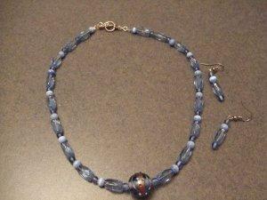 Light Blue charm necklace