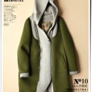 green Hooded winter coat parkas color patchwork sweater overcoat jacket