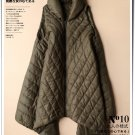 dark green A shape vest parkas winter coat hooded