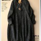 dark gray woolen overcoat cardigan causal winter coat outwear