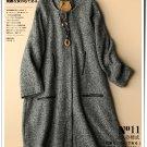 dark gray woolen overcoat cardigan thick winter coat