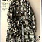 swallow grid woolen 4XL winter overcoat jacket cardigan coat in brown and white