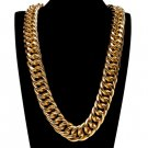 """Hip Hop Hipster 30mm width 36"""" ICE OUT gold necklace"""