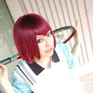 Prince of Tennis Mukahi Gakuto short wine red anime cosplay party full wig
