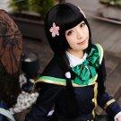 Girl Friend Beta long black 80cm anime cosplay party full wig