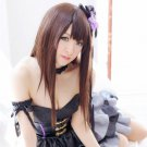 THE IDOLM@STER Cinderella girls Shibuya Rin long 80cm brown anime cosplay party full wig