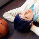 Kuroko No Basketball Aomine Daiki black blue mix short anime cosplay party full wig