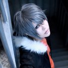 Togainu no Chi Akira short gray anime cosplay wig