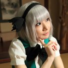 TouHou project Youmu Konpaku short silver white anime cosplay party full wig