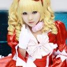 Black Butler Elizabeth curly golden 2 ponytails anime cosplay party full wig