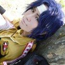 Prince of Tennis Seiichi Yukimura short black blue anime cosplay party full wig