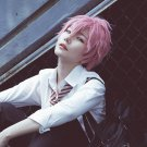Free! Kisumi Shigino short dark pink anime cosplay party full wig