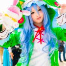 DATE A LIVE Yoshino long 80cm curly blue anime cosplay party full wig
