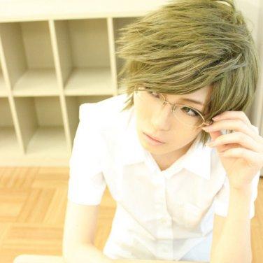 Prince of Tennis Tezuka Kunimitsu short green anime cosplay party full wig