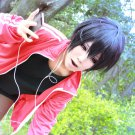 MekakuCity Actors Kagerou Project Kisaragi Shintaro short black anime cosplay party full wig