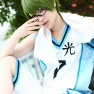 Kuroko No Basketball Midorima Shintaro short olive green anime cosplay party full wig