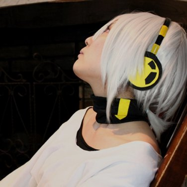 MekakuCity Actors Kagerou Project Konoha haruka silver white anime cosplay party full wig