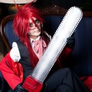 Black Butler Grell Sutcliff long 80cm red anime cosplay party full wig