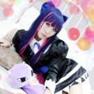 Panty & Stocking with Garterbelt Stocking blue pink long 100cm straight anime cosplay party full wig