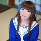 Fruits Basket Honda Toooru long straight brown 80cm anime cosplay party full wig