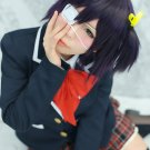 chuunibyou demo koi ga shitai Takanashi Rikka short black purple anime cosplay party full hair wig