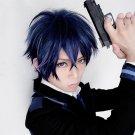 Black Bullet satomi rentaro short blue purple anime cosplay party full hair wig