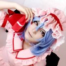 TouHou Project  Remilia Scarlet short ice blue curly anime cosplay party full hair wig